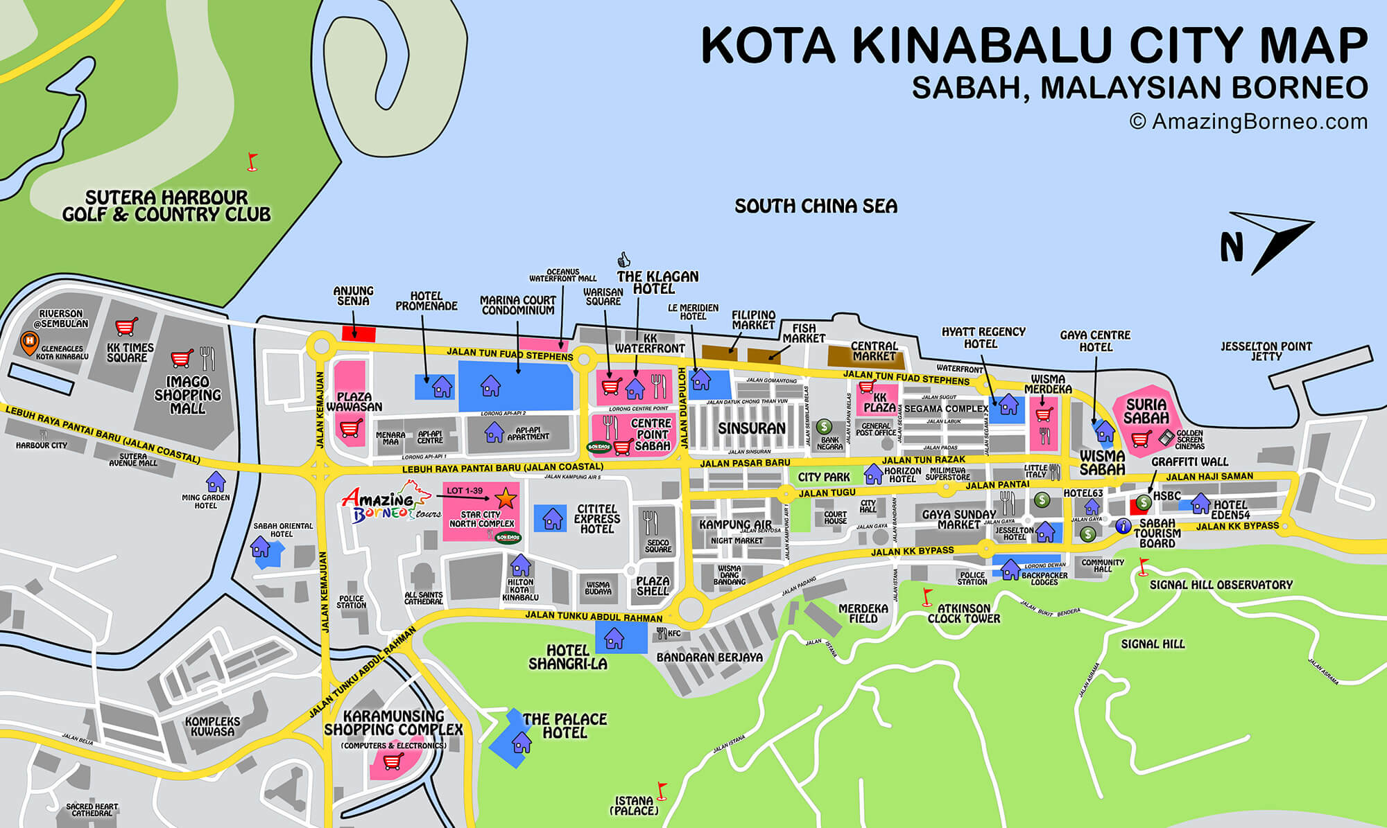 Maps Of Sabah Amazing Borneo Tours