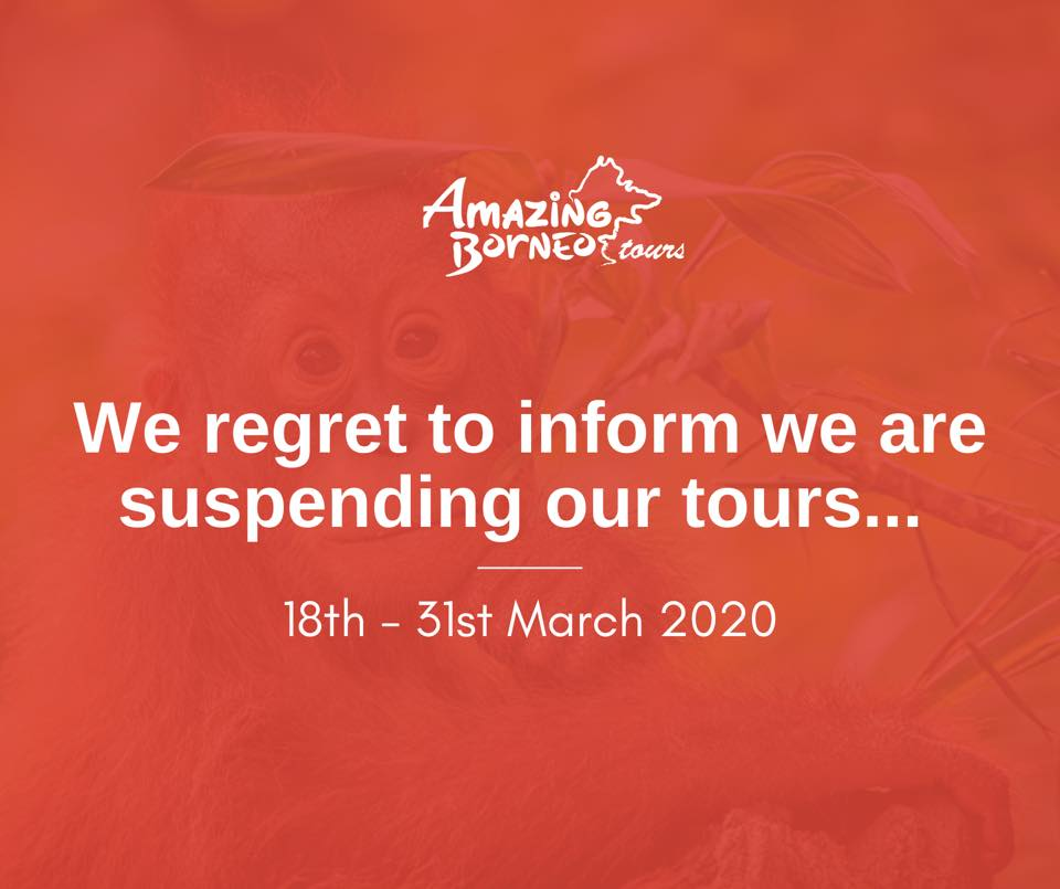 We regret to inform that we are suspending our tours 18 - 31 March 2020