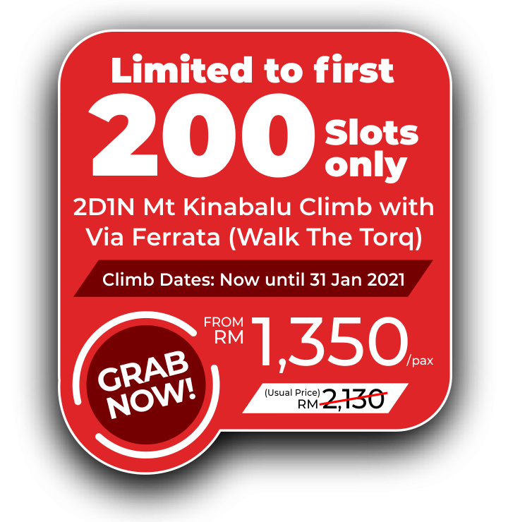 Mount Kinabalu Climb with Via Ferrata Walk The Torq Promo 2020 - Price from MYR1350