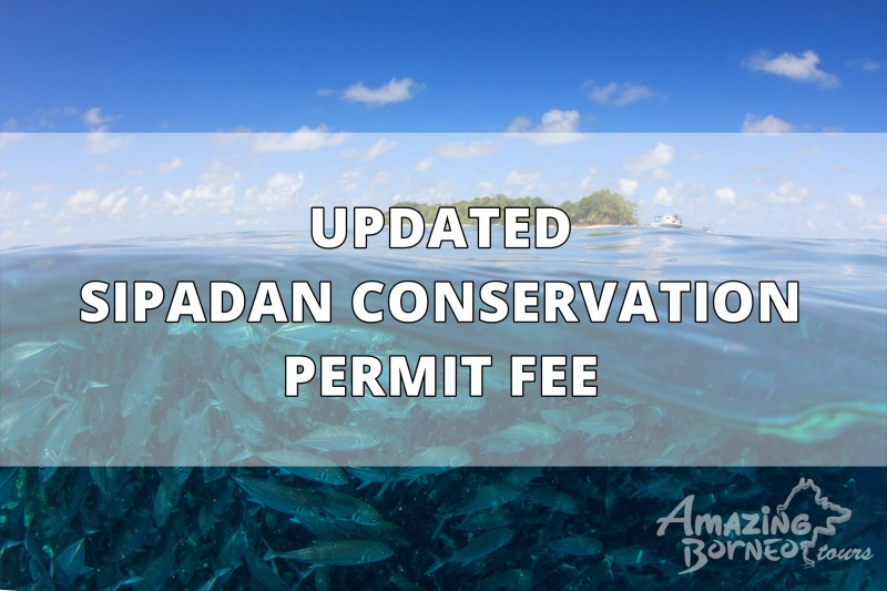 Updated Sipadan Conservation Permit Fee (Effective 14th AUG 2018)